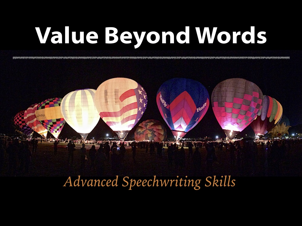 Value Beyond Words: Advanced Speechwriting - 1 Day